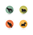 dog and cat set collection of pets icon silhouette vector image
