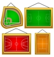 Set of playgrounds vector image