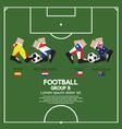 Group B 2014 Football Tournament vector image vector image