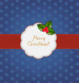 vintage merry christmas vector image