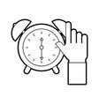 business clock alarm device icon vector image