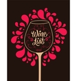 Calligraphic retro style wine list design vector image