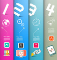 Four Steps Paper Infographics Layout with vector image
