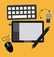 graphic designer vector image