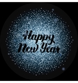 Happy New Year Lettering over Silver vector image
