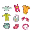 Infant clothes Icon set vector image