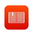 open book with a bookmark icon digital red vector image