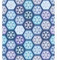 Seamless geometric pattern with snowflakes vector image