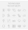 Technology icon set vector image