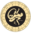 Scorpio with the signs of the zodiac vector image