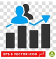 Audience Graph Eps Icon vector image