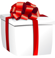 gift boxes white vector image vector image