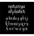 natasya alphabet typography vector image