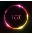 Abstract colorful glowing circle background vector image vector image