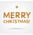 Wooden Boards Merry Christmas vector image