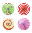 asian umbrellas set vector image
