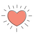 heart icon  love red symbol emblem vector image