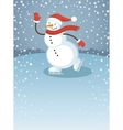 Snowman1 vector image vector image