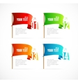 colorful flags like options banner vector image vector image