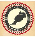 Vintage label-sticker cards of Morocco vector image