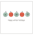 Doodle Christmas balls vector image