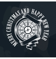 Merry Christmas clock vector image