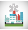 Hospital design Healthy center emergency concept vector image