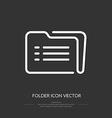 Line icon folder vector image