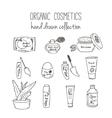 cosmetic bottles Organic cosmetics vector image