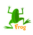 green frog icon vector image
