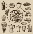 Hand Drawn Coffee vector image