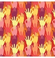 Hands in the crowd seamless pattern background vector image
