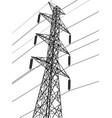 high voltage power pole vector image
