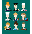 Profession people cop doctor cook hairdresser an vector image