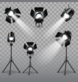 Realistic spotlight set vector image