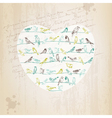 Valentines Birds Card vector image