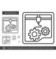 Three D printing line icon vector image
