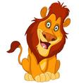 happy lion vector image vector image