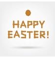 Wooden Boards Happy Easter vector image vector image
