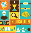 Retro poster of education vector image vector image