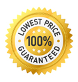 Lowest price guaranteed sticker vector image vector image