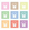 presents pastels vector image