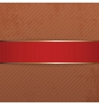 Realistic Christmas or Valentines Day red Banner vector image