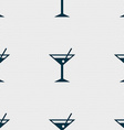 cocktail martini Alcohol drink icon sign Seamless vector image