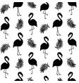 beautiful seamless pattern with black flamingo vector image