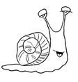 black and white snail vector image
