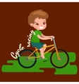 Boy cycling racing kids sport physical activity vector image