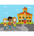 Education back to school cartoon kids vector image
