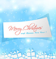 label sticker for Merry Christmas time vector image