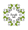 leaves decoration vector image